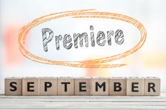 September premiere event sign - stock photo