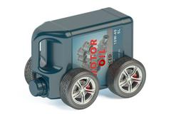 Motor Oil Canister on Wheels Stock Illustration