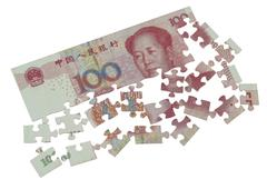 Puzzle of the Chinese yuan Stock Illustration