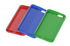 MultiColor Mobile Phone plastic cases Stock Illustration