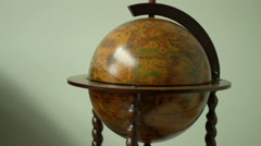The interior of stylish modern house. Decorative globe. - stock footage