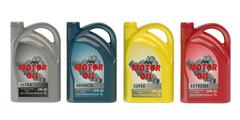 Set of canisters motor oil Stock Illustration