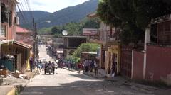 Traffic On A Street In Trujillo Honduras 4K Stock Footage