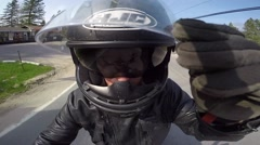 Creative motorcycle go pro mount Stock Footage