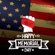 Happy Memorial Day vector background - stock illustration