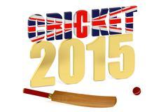Great Britain 2015 Cricket concept Stock Illustration
