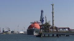 LNG tanker Arctic Voyager at GATE Gas terminal Maasvlakte Rotterdam Stock Footage