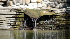 View of the exterior of a contemporary home and garden. Artificial pond. - stock footage