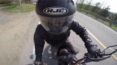 Gopro motorcycle cool angle Stock Footage