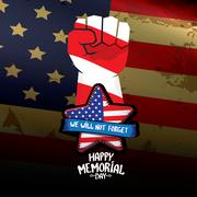 Happy Memorial Day vector background Stock Illustration