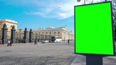 Billboard chromakey. St Petersburg. Russia. timelapse - stock footage