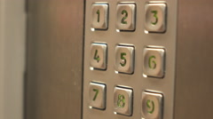 Close up of keypad with person entering pin number 4k - stock footage