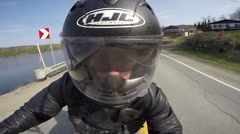 Gopro motorcycle slow motion amazing view Stock Footage
