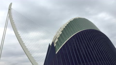 L'Agora covered space designed by Santiago Calatrava in Valencia 4k Stock Footage