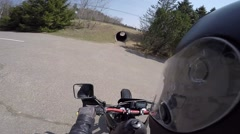 Gopro motorcycle through tunnel with jump at end Stock Footage