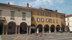 Pavia, Italy – circa May 2016: Piazza Duomo Stock Footage