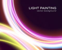 Abstract background with glowing curves Stock Illustration