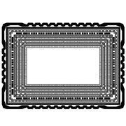 Rectangular Decorative Frame - stock illustration