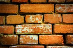 Old red brickwork Stock Photos