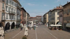 Piazza della Vittoria, Pavia, PV, Italy Stock Footage