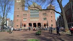 Beurs van Berlage Stock Exchange, Amsterdam Netherlands Stock Footage