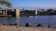 Draw Bridge Opening (Siesta Key South Bridge) Stock Footage