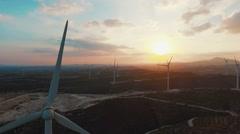 Aero Windmills - stock footage