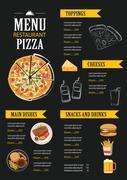 Vector restaurant cafe menu template flat design Piirros