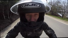 motorcycle go pro creative mount - stock footage