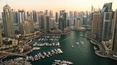 Time lapse of Dubai Marina District Stock Footage