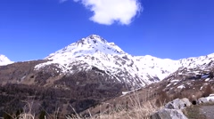 View of the snowy peaks of the Alps on a clear day (Grossglockner) Stock Footage