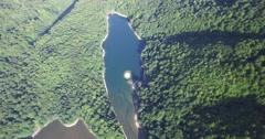 Aerial view of Biogradsko Lake, Biogradska Gora national park in Montenegro Stock Footage