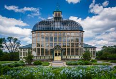 Gardens and the Howard Peters Rawlings Conservatory in Druid Hill Park, Balti Stock Photos