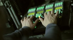 Video mixing console - stock footage