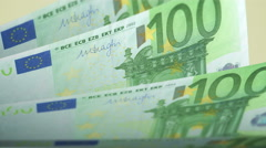 Cash counting. Euro banknotes. Easy to loop. Stock Footage