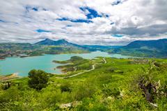 Lake Zahara Andalusia - stock photo