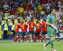 UEFA EURO 2012 Final game Spain vs Italy - stock photo