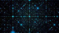 Blue Grid On Black Background - stock illustration