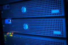 Storage servers in data room Domestic Room long exposure technique - stock photo