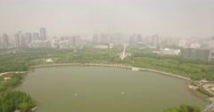 Shanghai Century Park track forward - stock footage