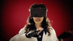 Virtual reality doctor conference Stock Footage