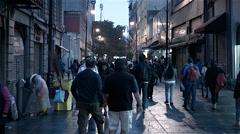 Calle Motolinia Mexico City Stock Footage