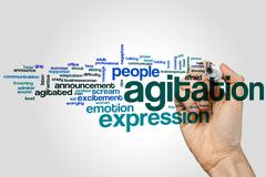 Agitation word cloud Stock Photos