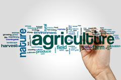 Agriculture word cloud Stock Photos