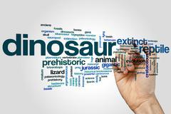 Dinosaur word cloud - stock photo