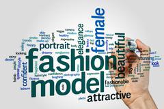 Fashion model word cloud Stock Photos