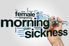 Morning sickness word cloud - stock photo