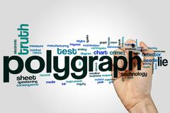 Polygraph word cloud - stock photo