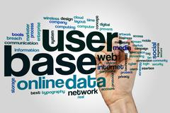 User base word cloud concept Stock Photos