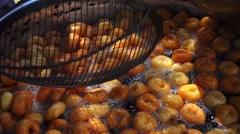Turkish Traditional Donut Lokma Stock Footage